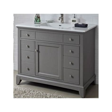 42 x 21 bathroom vanity fairmont designs 1504 v42 smithfield medium gray bathroom