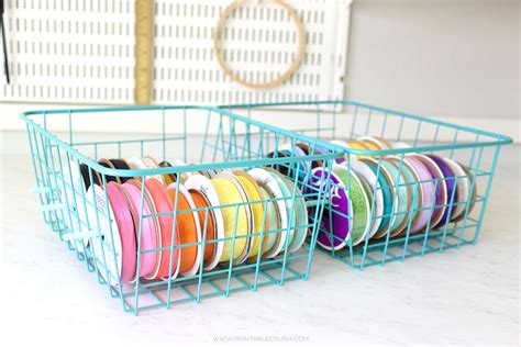 easy diy ribbon holder for mess free ribbon storage