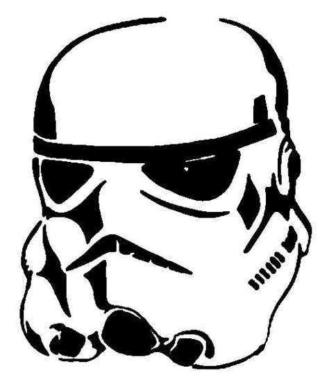 printable star wars pumpkin stencils free vector storm trooper clipart best