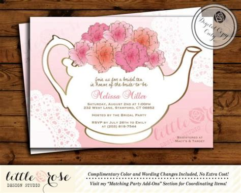 free printable invitations afternoon tea bridal tea party invitation bridal shower invite baby