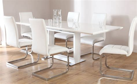 Perth Dining Tables Tokyo Perth Extending White High Gloss Dining Table 4 6 8 Chairs Set White Ebay