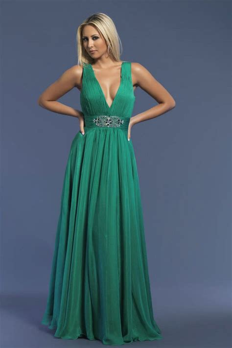 V Neck Prom Dress v neck green prom dress prom dresses