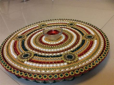 decorative diya and thali set the 150 best images about rangoli decorated candel tray