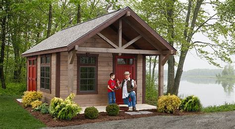 Rustic Garden Shed Plans by Highland Shed Jpg Playhouse Cing Cabin Sheds