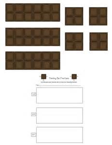 hershey bar template for fractions hershey bar fraction worksheet abitlikethis