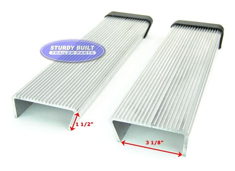 boat step pads pair aluminum boat trailer round fender mount and step pad