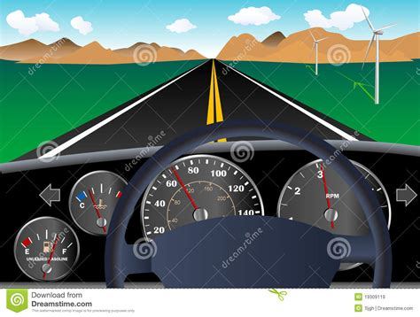 image gallery labeled car dashboard car dashboard with road stock vector illustration of highway 19309119