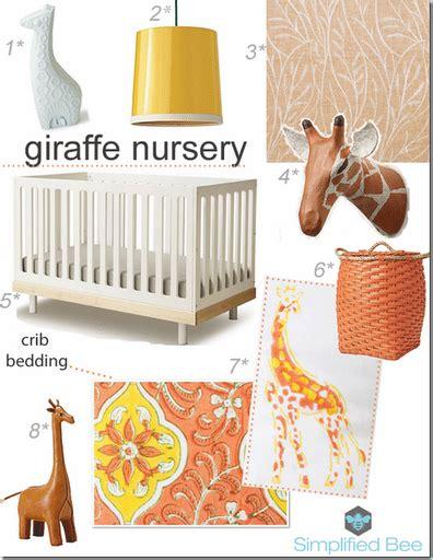 Giraffe Decor For Nursery Design Board Giraffe Nursery Simplified Bee
