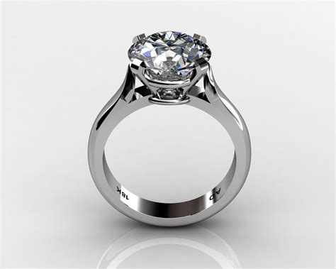 cut solitaire engagement wedding ring south