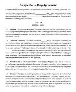 consulting agreement template 5 consulting contract templates free word pdf