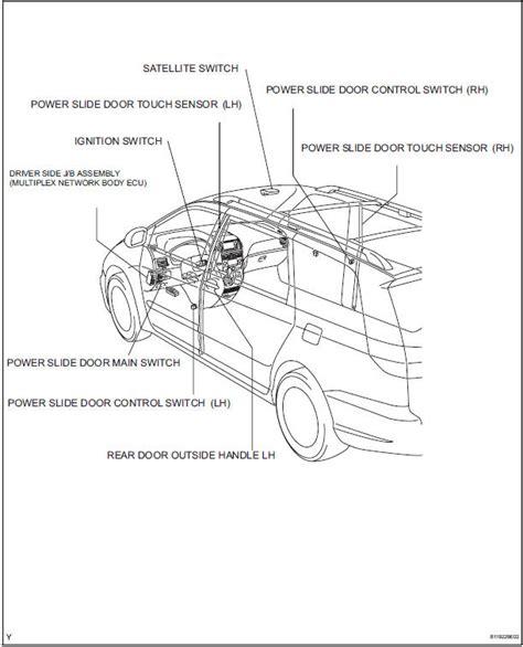 toyota sliding door parts toyota sliding door handle diagram toyota auto
