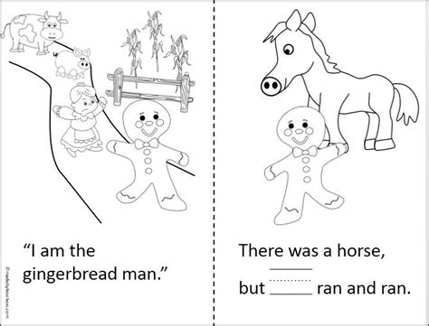 printable gingerbread man story this is a simple gingerbread man printable book for