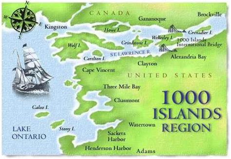 map thousand islands thousand islands seaway new york s best kept secret