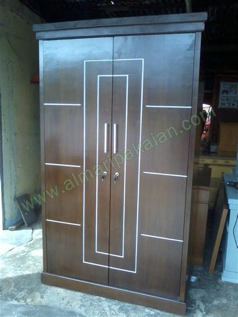 Lemari Kayu Jati 2 Pintu harga lemari pakaian minimalis jati sliding door murah