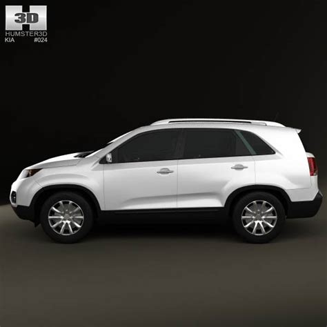 Kia 2011 Model Kia Sorento With Hq Interior 2011 3d Model Humster3d