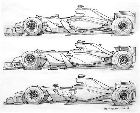 Formula 1 Sketches by 2017 F1 Concept Sketches In My Headlights