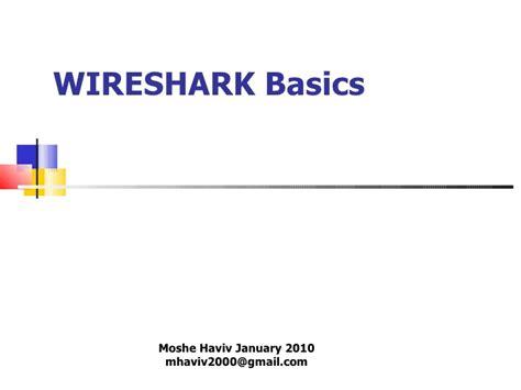 Wireshark Tutorial Slideshare | wireshark inroduction li in