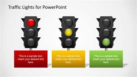 traffic light free traffic lights for powerpoint slidemodel