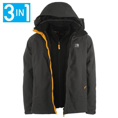 karrimor mens waterproof 3 in 1 jacket coat with removable