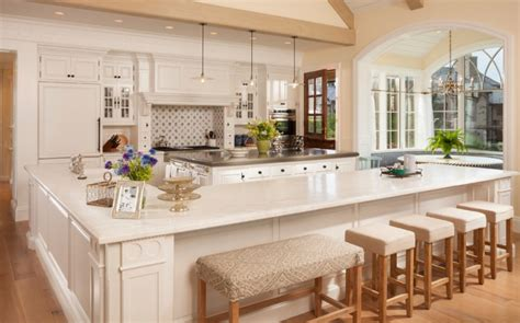 kitchen l shaped island 40 kitchen island designs ideas design trends