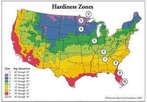 Landscape Zones Usa Hardines Zone Map