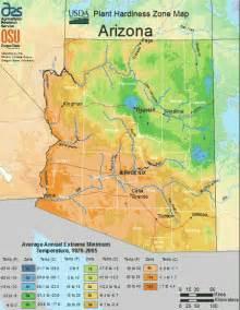 arizona temperature map usda zones for plants trees in arizona