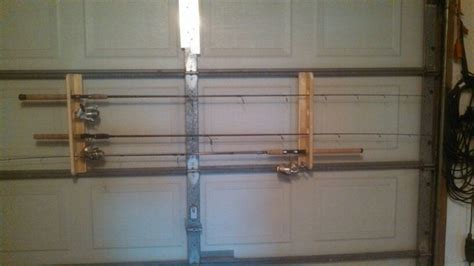 Rods Overhead Door Fishing Rod Storage On The Garage Door Rod Holders Screwed Onto The Phalanges So The Door