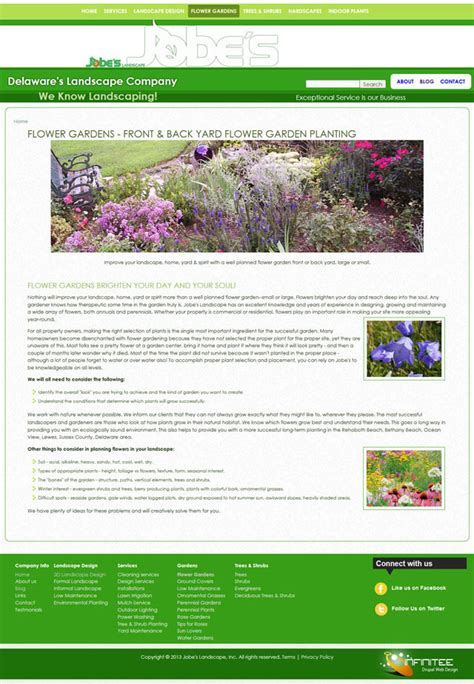 page layout css landscape landscaping websites infinitee web design