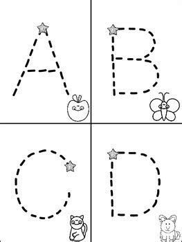 printable letter cards for tracing alphabet mini books for tracking letters freebie