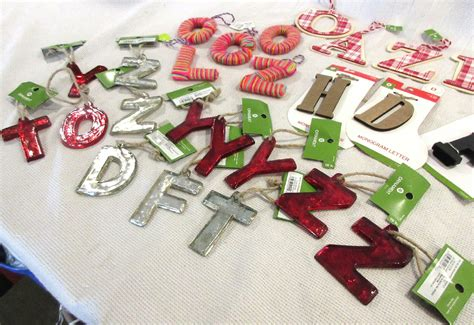 letter tree decorations tree decorations letters initial letter