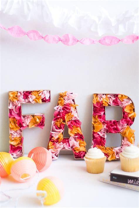 lettere con fiori lettere oversize fai da te