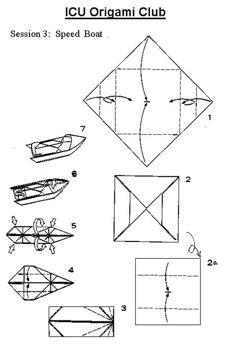 How To Make A Paper Motor Boat - free coloring pages of origami boat
