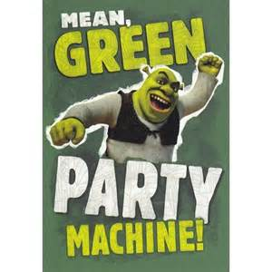 shrek birthday card birthday card shrek quot green machine quot
