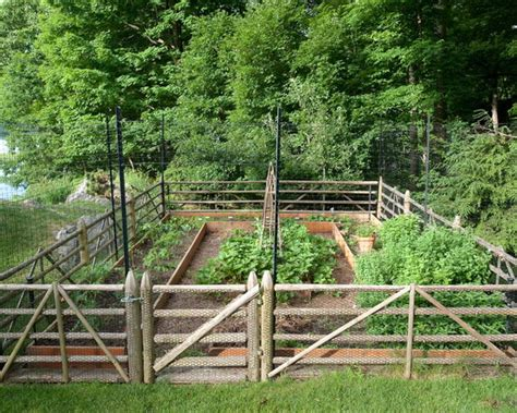 Vegetable Garden Fence Ideas Garden Fence Home Design Ideas Pictures Remodel And Decor