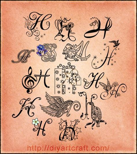 letter h tattoo designs lettering h imaginative typography