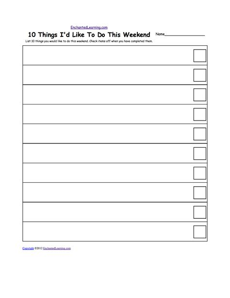 Blank Checklist Template Pdf by 5 Best Images Of Free Check List Printable To Do