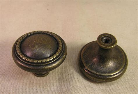 Furniture Knobs Ebay 10 Rubbed Brass Handles Knobs Pulls