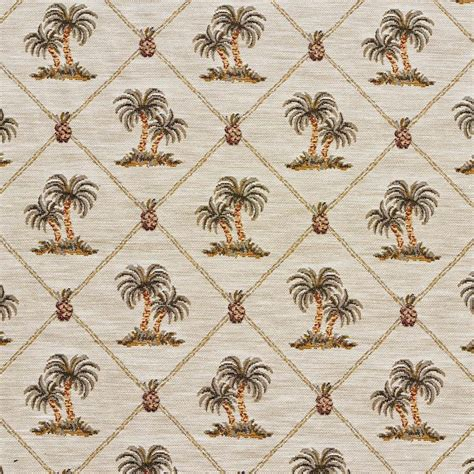 j9600n palm trees jacquard upholstery fabric