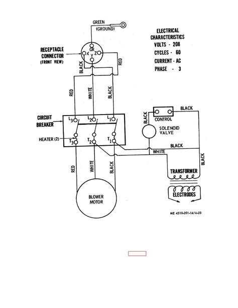Figure 4-23. Wiring diagram for water heater.