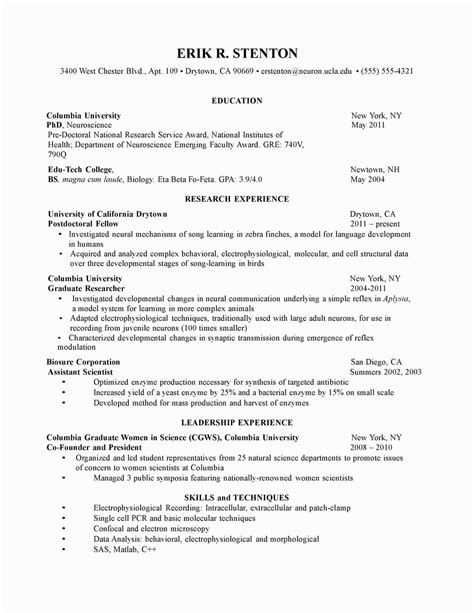 best solutions of undergraduate research assistant cv sample job