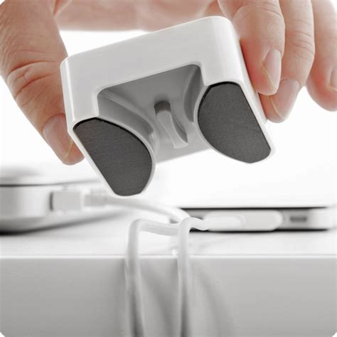 Keep Cables From Falling Desk by Desktop Cable Management Device Keep Cables From Falling