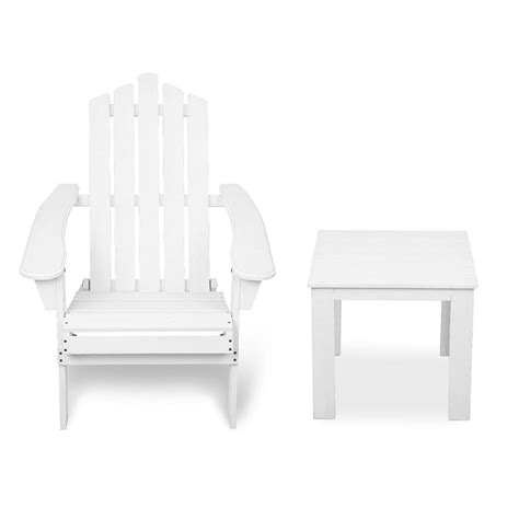 adirondack chairs and table set adirondack outdoor deck chair and side table set buy