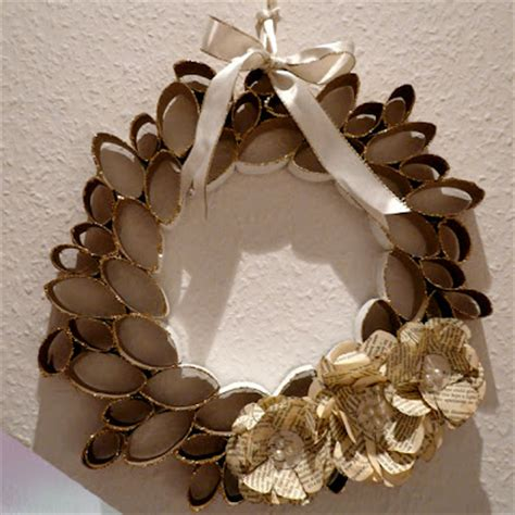 toilet paper roll wreath craft ecoscrapbook toilet paper roll craft s wreath