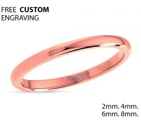 2mm gold tungsten wedding band tungsten ring