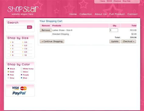 shop star 2 color template inc php shopping cart by