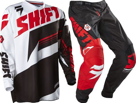 New Shift Youth Mx Gear Assault Black White Motocross Kids