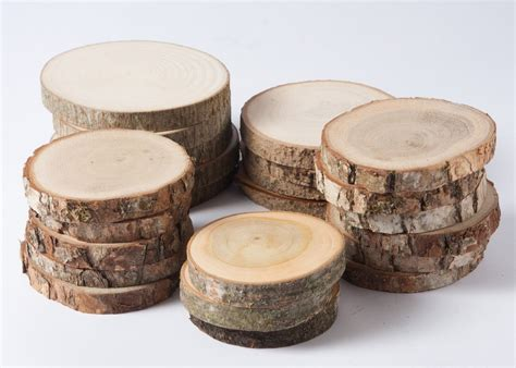 Handmade Wood Crafts For Sale - sale 10 assorted wood slices rustic wood slices for diy