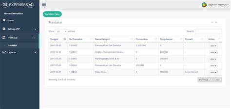 Membuat Laporan Keuangan Berbasis Web | aplikasi pencatat keuangan harian berbasis web transaksi
