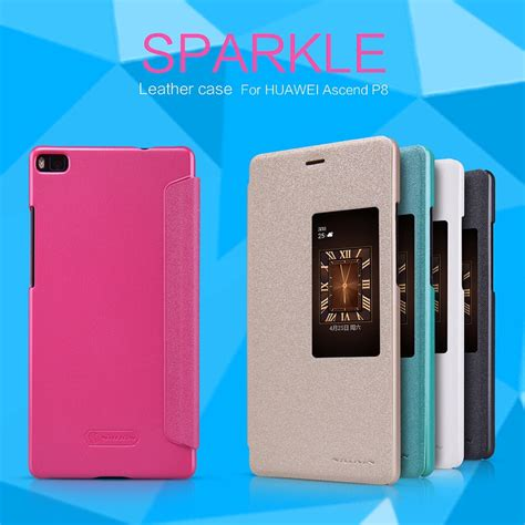 Hp Huawei Warna Gold flip nillkin huawei ascend p8 sparkle series casingcoverhape