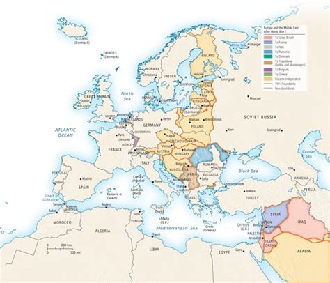 middle east map before and after europe and the middle east after world war i